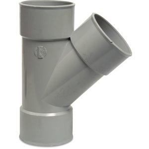 PVC T-stuk 45° - Ø40 t/m Ø125 mm - 3x inwendig lijm