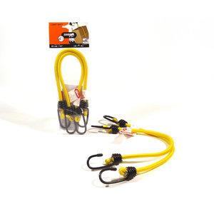 Jumbo products Jumbo Bagagebinder 45 cm - standaard haken - geel - 2 stuks