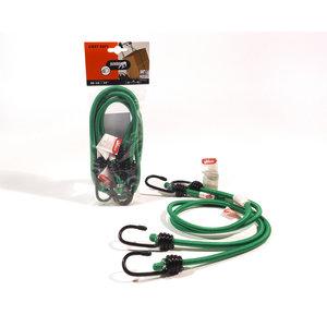 Jumbo products Jumbo Bagagebinder 80 cm - standaard haken - groen - 2 stuks