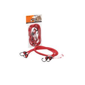 Jumbo products Jumbo Bagagebinder 100 cm - standaard haken - rood - 2 stuks