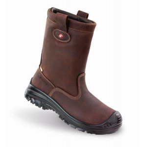 Sixton safety shoes Sixton 81156-23 Werklaars Montana Outdry - bruin - S3 - met bont - composiet neus, anti-perforatiezool