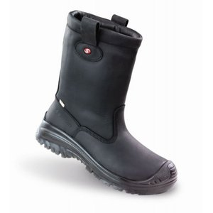 Sixton safety shoes Sixton 81156-17 Werklaars Montana Outdry - zwart - S3 - met bont - composiet neus, anti-perforatiezool