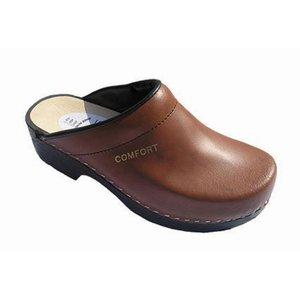 Comfort Comfort 050 Klompen open hiel - PU - antiek bruin - leer