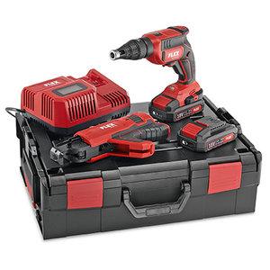 Flex powertools Flex DW 45 18.0-EC M/2.5 set Accu Gipsschroefmachine set met opzetstuk 18.0V 2,5 Ah - koolborstelloos - L-BOXX® - 466.824