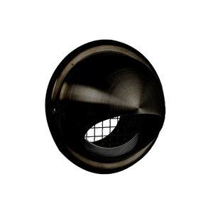 Nedco Nedco RVS zwart Buitenrooster bol model Ø 125 mm - grof gaas - 626.011.01