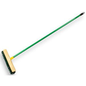 HEVU TOOLS HEVU Multifunctionele bezem  - 40 cm kunststof groene PPN haren - 150 cm lichtmetalen steel - 1490240