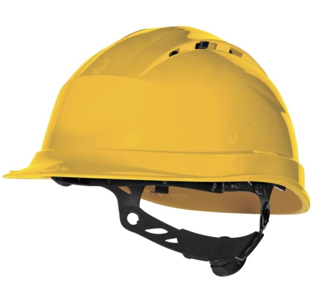 Delta Plus - your safety at work Delta Plus QUARTZUP4 Bouwhelm - werfhelm - geventileerd -  geel