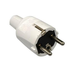 ABL ABL PVC rechte stekker + randaarde - wit - 33105