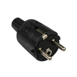 ABL ABL PVC rechte stekker + randaarde - zwart - 33108