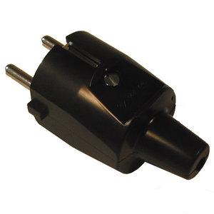 ABL ABL PVC rechte stekker + randaarde - zwart - 33108 - 1