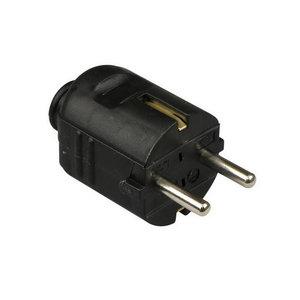 HEVU TOOLS HEVU PVC Rechte stekker + randaarde - klapmodel - zwart - 61071
