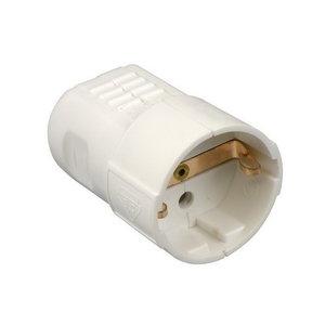 HEVU TOOLS HEVU PVC contra stekker + randaarde - klapmodel - wit - 61072