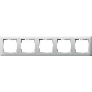 Gira Gira 021503 Afdekraam 5-voudig - standaard 55 - zuiver wit glanzend