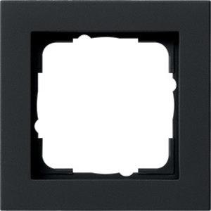 Gira Gira 021109 Afdekraam 1-voudig - E2 - zwart mat
