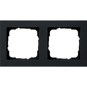 Gira Gira 021209 Afdekraam 2-voudig - E2 - zwart mat