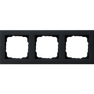 Gira Gira 021309 Afdekraam 3-voudig - E2 - zwart mat