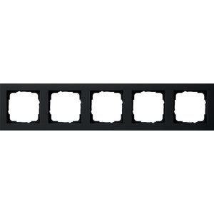 Gira Gira 021509 Afdekraam 5-voudig - E2 - zwart mat
