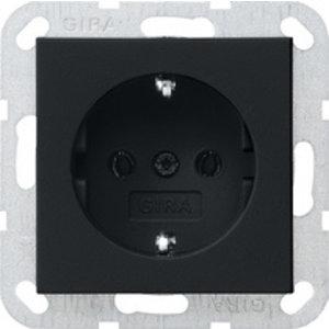 Gira Gira 0466005 Wandcontactdoos met randaarde - systeem 55 - Zwart mat