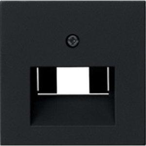 Gira Gira 0270005 Afdekplaat voor RJ45 UTP en netwerkaansluitdoos 1/2-voudig - systeem 55 - zwart mat
