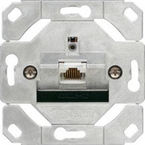 Gira Gira 245100 Basiselement RJ45 UTP netwerkaansluitdoos CAT.6A 1-voudig - snijklemtechniek