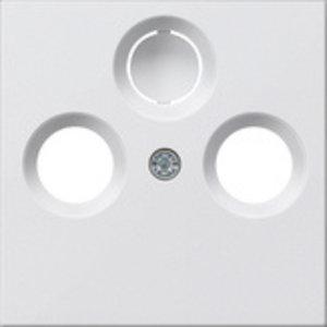 Gira Gira 086903 Centraalplaat Antenne / Coax wandcontactdoos - systeem 55 - zuiver wit glanzend