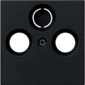 Gira Gira 0869005 Centraalplaat Antenne / Coax wandcontactdoos - systeem 55 - zwart mat