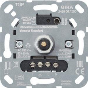 Gira Gira 245500 Basiselement universele  LED druk/ draaidimmer - system 3000 - comfort