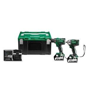 Hikoki powertools Hikoki KC18DPLWDZ Combopack DS18DBSL + WR18DBDL2 -  2x 5,0 Ah accu - koolborstelloos - HSC