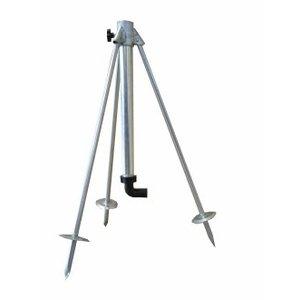 """HEVU TOOLS Sproeistandaard - 3-poot - 60/100 cm - 1"""" buitendraad  - staal"""