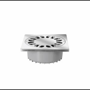 Jimten Jimten PVC Vloerput zelfreinigend - RVS rooster - 200x200 mm - Ø75 mm