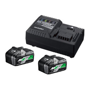 Hikoki powertools Hikoki UC18YSL3WFZ Accupakket MultiVolt - 2 x 8.0 Ah 18V / 4 Ah 36V + lader UC18YSL3