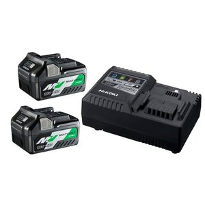 Hikoki powertools Hikoki UC18YSL3WEZ Accupakket MultiVolt - 2 x 5.0 Ah 18V / 2.5 Ah 36V + lader UC18YSL3