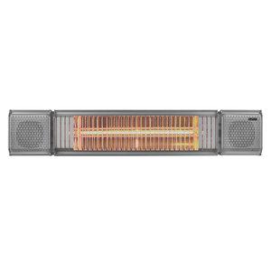 Eurom Eurom Terrasverwarmer Heat and Beat - bluetooth speaker - 2000 Watt - antraciet - 334586