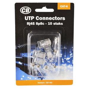 CB CB Plug - connector RJ45 8P8C tbv UTP CAT6 - 10 stuks