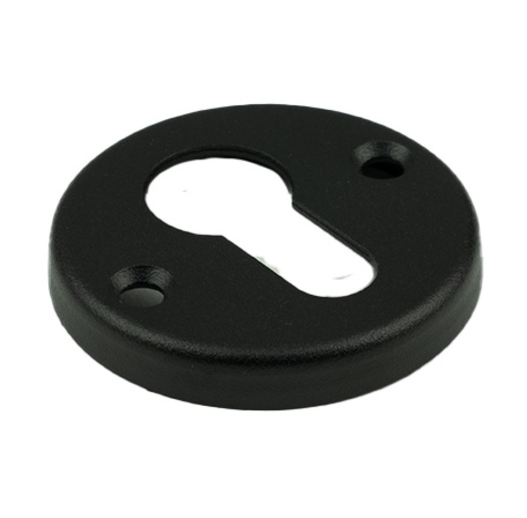 Ami deurbeslag Ami Afdekrozet profielcilinder rond tbv kastslot - geperst aluminium zwart - RZ RO PC BE