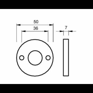 Ami deurbeslag Ami Afdekrozet t.b.v. WC badkamerslot - geperst aluminium zwart - RZ RO WC BE - 1