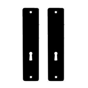 Ami deurbeslag Dulimex Kortschild tbv kastslot BB - type 180/41 RH - geperst aluminium zwart - KS ZKSL 56 BE