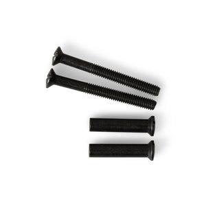 Ami deurbeslag Ami Patentboutset tbv zwart kortschild - M4x38 mm - PTBS 38 BE