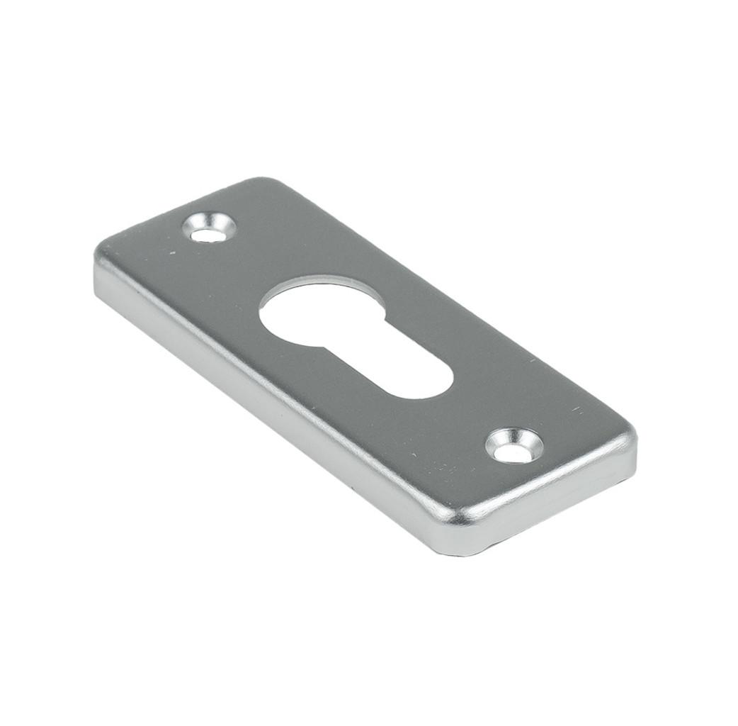 Ami deurbeslag Ami Afdekrozet profielcilinder tbv kastslot - geperst aluminium - RZ PC AF