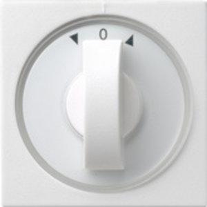 Gira Gira 066627 Afdekkap met draaiknop jaloezieschakelaar - standaard 55 - zuiver wit glanzend