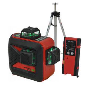 Futech Futech kruislijnlaser MC3D Compact - groen - + statief & handontvanger - 040.03D-P