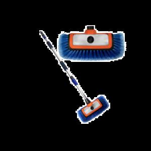 BTC BTC line Waterdoorlatende wasborstel met zeepdispencer - 165 cm - 3000024