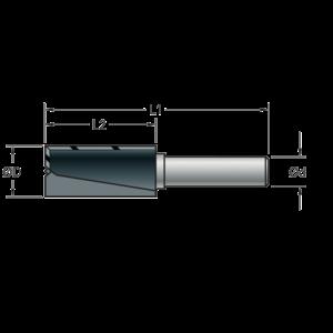 Stehle Stehle Hardmetalen groeffrees - Ø9 x 54 mm - met inboorsnede - 58502117