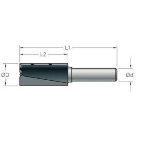 Stehle Stehle Hardmetalen groeffrees - Ø14 x 59 mm - met inboorsnede - 58502124