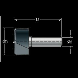 Stehle Stehle Hardmetalen cilinderkopboor - beslagfrees zonder voorsnijder - Ø35 x 57 mm - 58904904