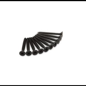 Dulimex Dulimex Schroeven tbv scharnier - 4.5x40 mm kruiskop (PZ) - RVS zwart - 10 stuks - HSCH RVS ZW P