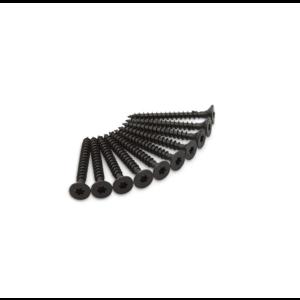 Dulimex Dulimex Schroeven tbv scharnier - 4.5x40 mm torx (TX) - RVS zwart - 10 stuks - HSCH RVS ZW T