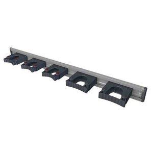 Toolflex Toolflex Aluminium wandstrip met 5 gereedschaphouder - 90 cm