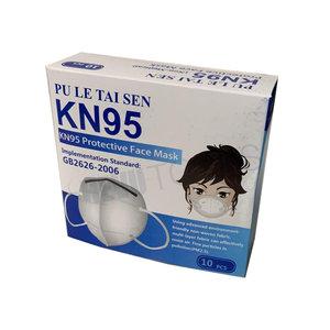 HEVU TOOLS Mondmasker - stofmasker FFP2 KN95 - 5-laags - doos á 10 stuks