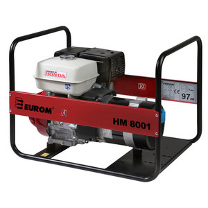 Eurom Eurom HM 8001 Benzine aggregaat - 11,7 pk, 389CC - Honda GX 390 - 449082